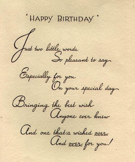 happy birthday card inside, Birthday card