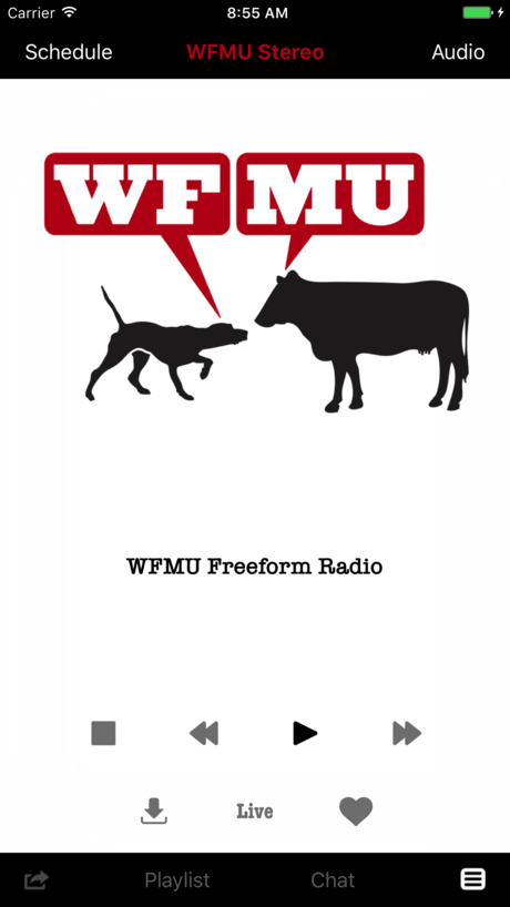 WFMU iPhone App Screenshot